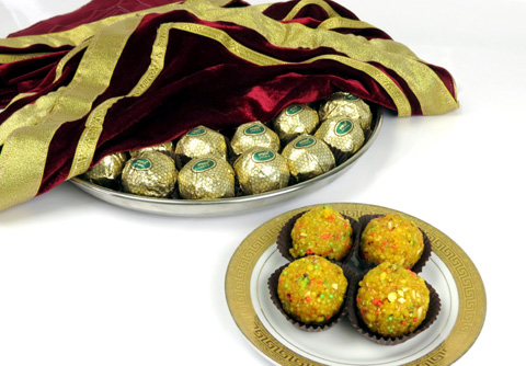 Gold Wrapped Special Ladoo Platter