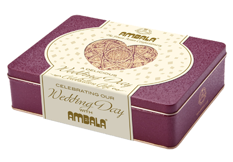 Personalised Wedding Day 550g Gift tin